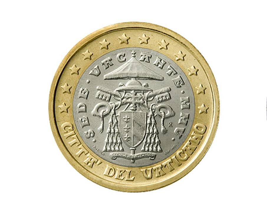 """Vaticano (2005 """"Sede Vacante""""): 94 euros"""
