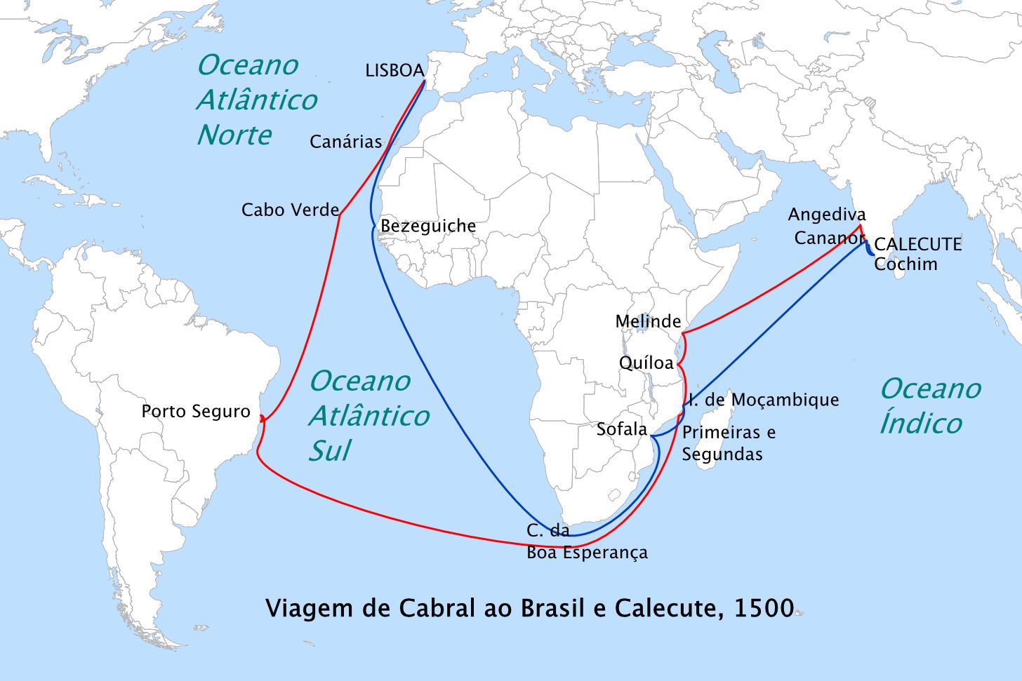 Pedro Álvares Cabral route