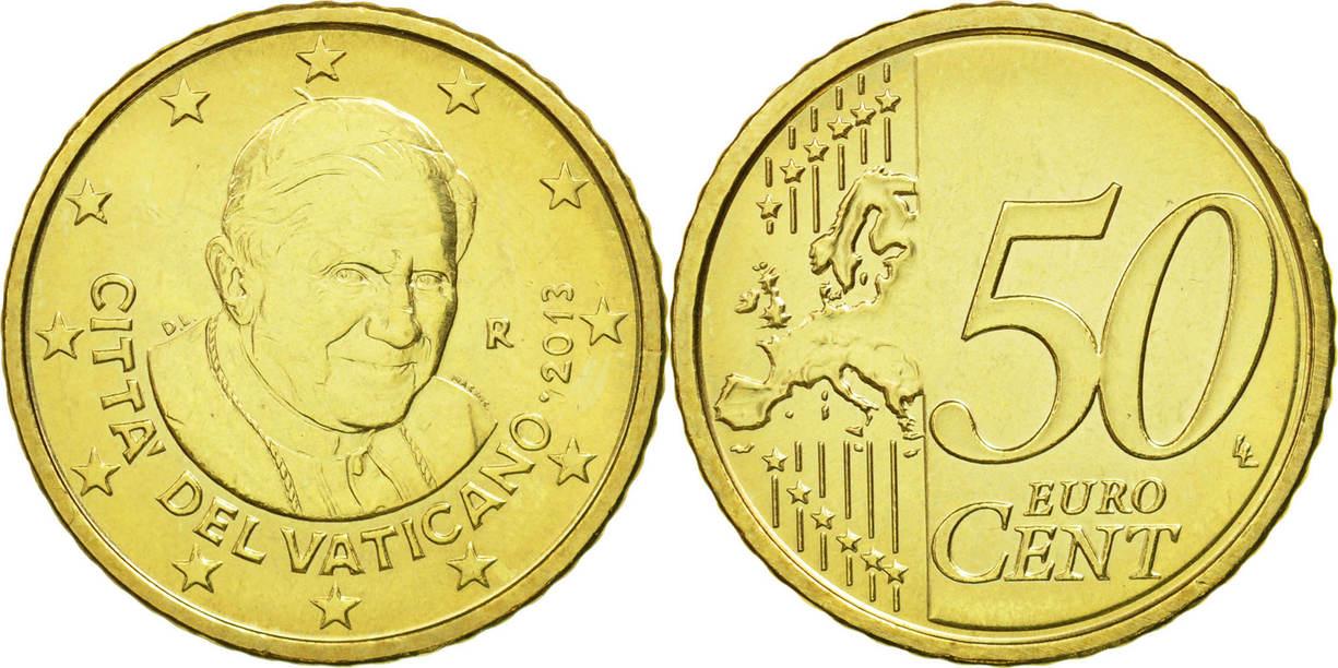 50 cêntimos Vaticano 2013