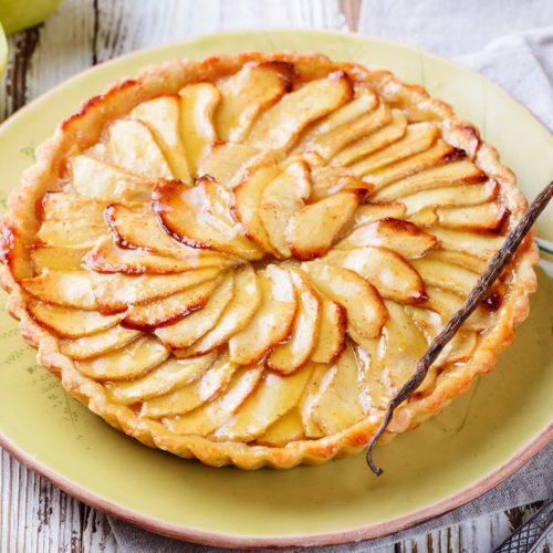 Tarte de maçã com creme