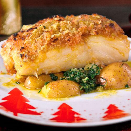 Bacalhau com broa e grelos