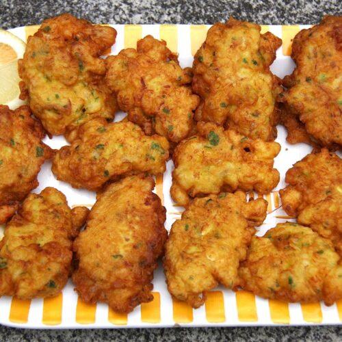 Pataniscas de bacalhau no forno